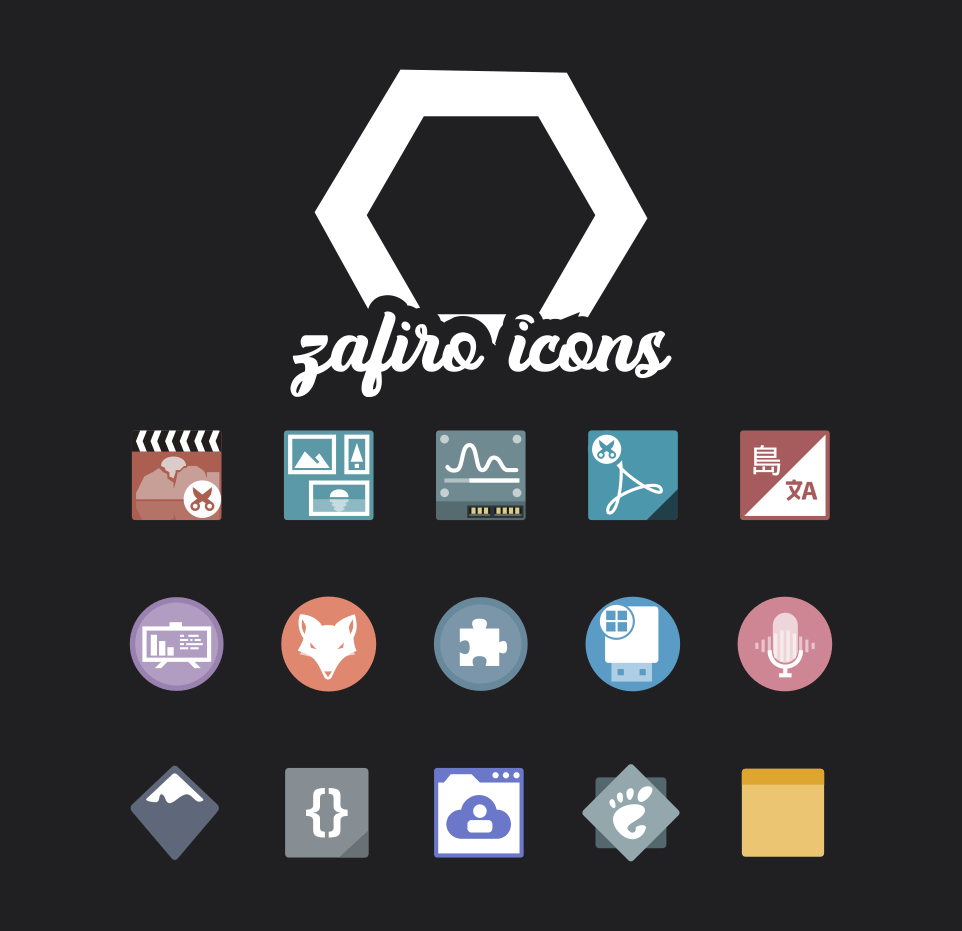 zafiro icons gnome theme