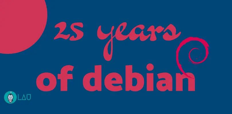 25 years of debian