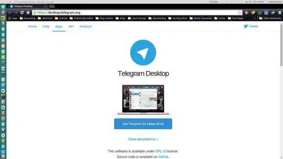 Download telegram from webiste for linux mint ubuntu