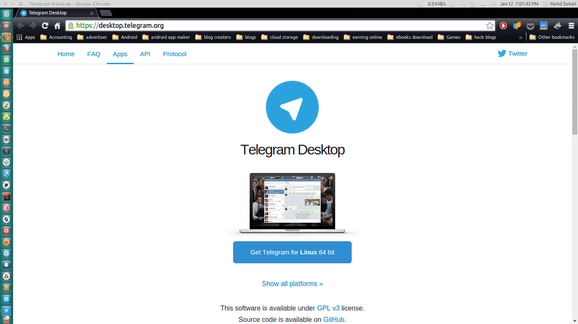 Download telegram from webiste for linux mint ubuntu