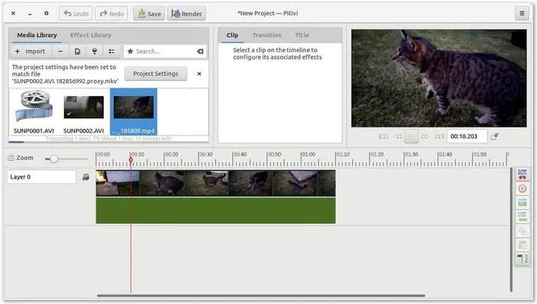 Pitivi linux video editor