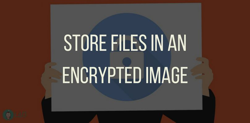 Store Files In An Encrypted Image