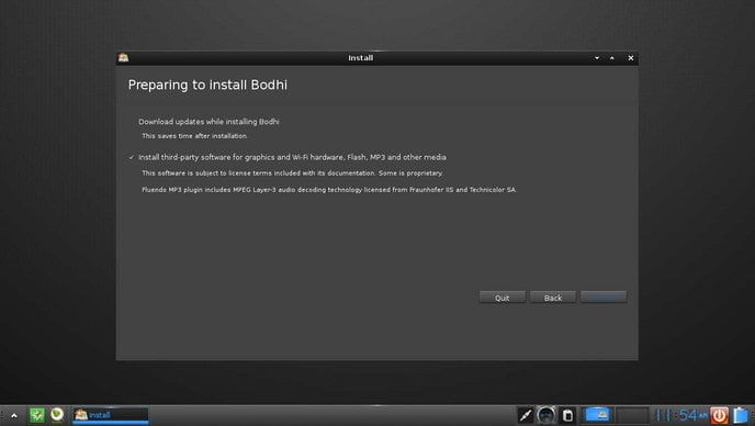 bodhi installation install third party packages