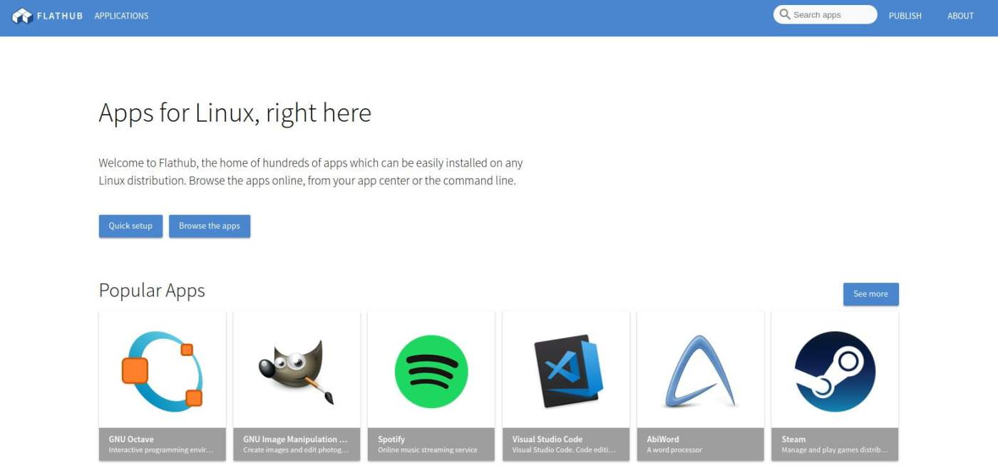 browse flathub applications