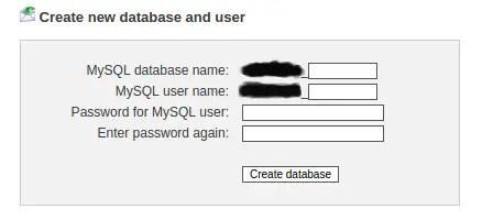 create database to host wordpress