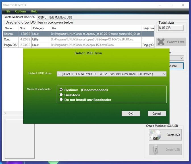 create multiboot usb with xboot