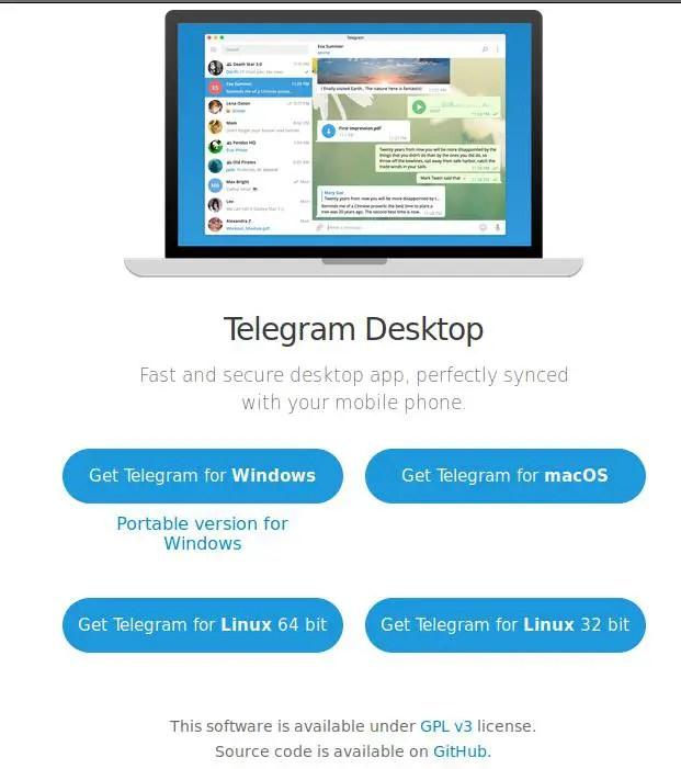 download 64-bit or 32-bit telegram