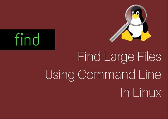 find large files using command line in linux