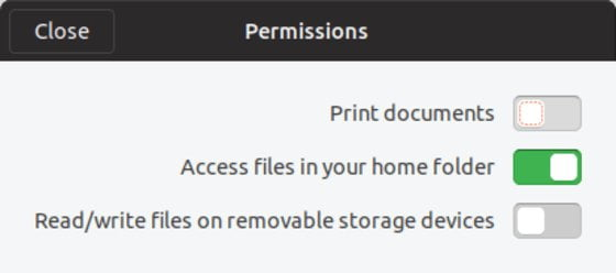 Snap Application Permissions - LinuxAndUbuntu