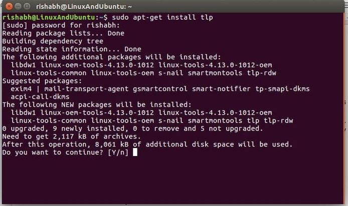 install tlp in linux