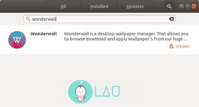 install wonderwall linux software center