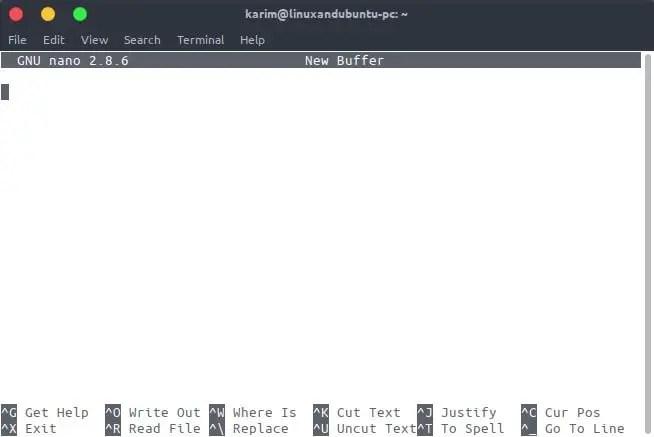 linux cli based nano editor