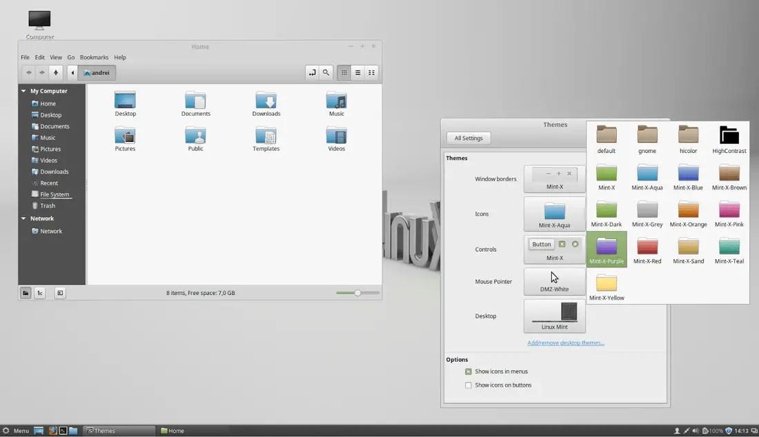linux mint 17.1 rebecca themes