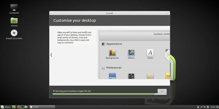 linux mint 18 customize your desktop