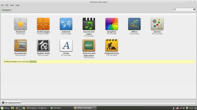 linux mint software center