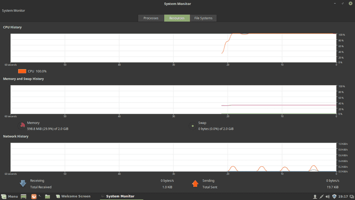 linux mint system monitor