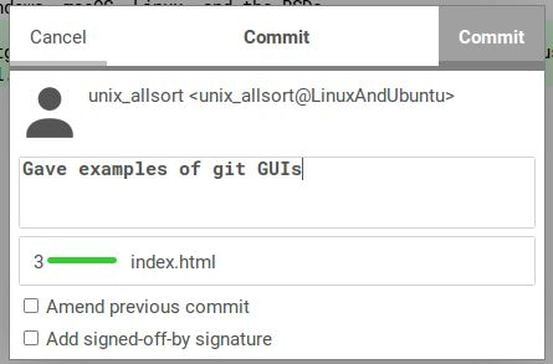 push commit gitg