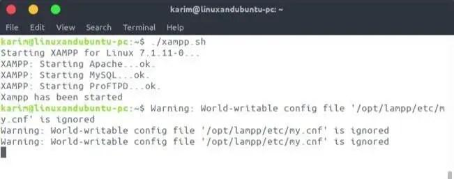 run script in linux terminal