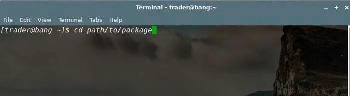 run telegram tar.xz in linux