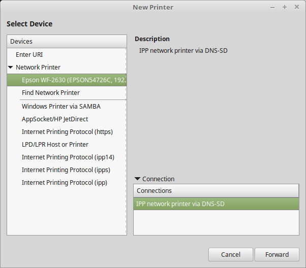 share a printer on network in linux