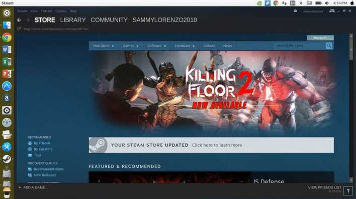 steam gaming platform for linux