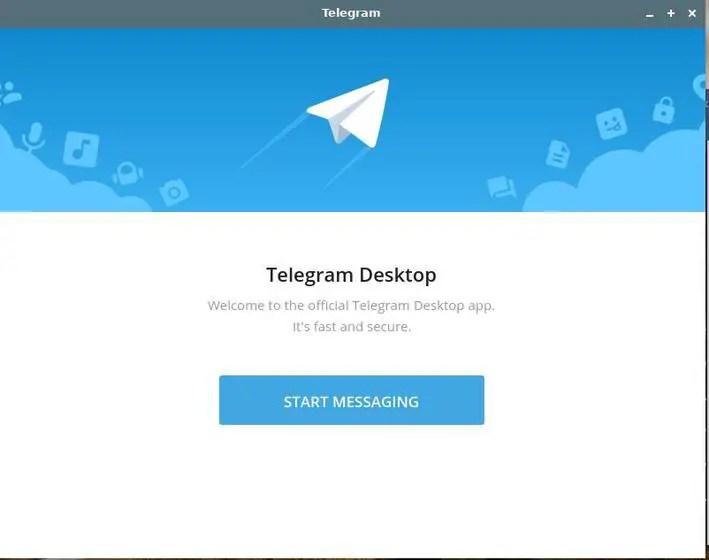 telegram start screen in linux