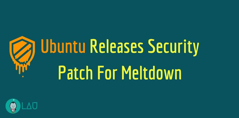 ubuntu releases security patch for meltdown