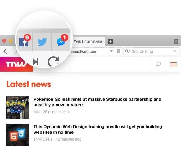vivaldi browser notifications in tab