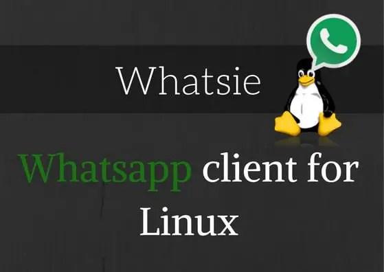 whatsie whatsapp web for linux