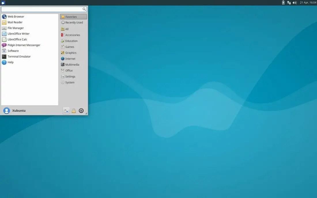 xfce desktop environment