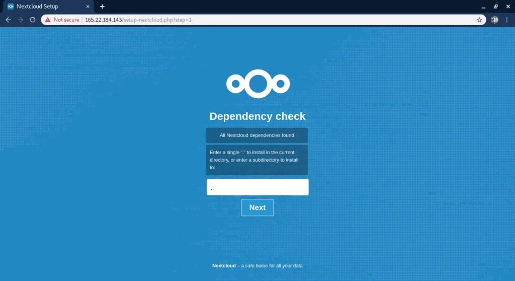 Nextcloud install directory