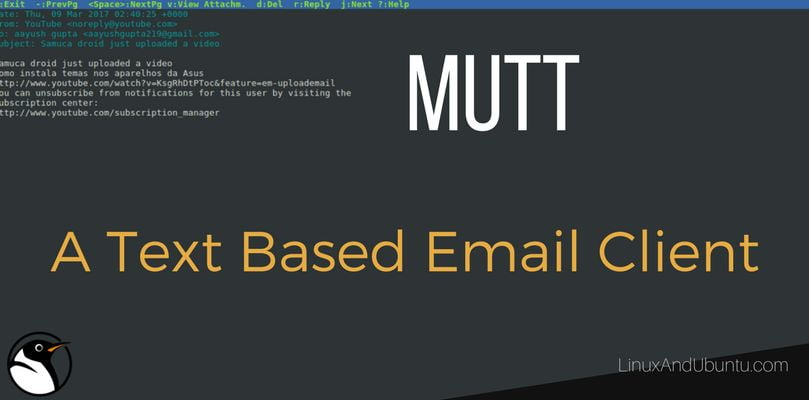 mutt an open source text based email client for linux