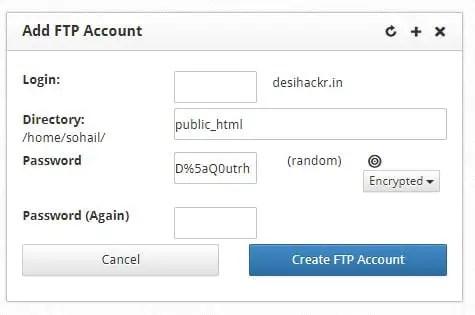 add ftp account
