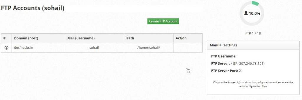 create ftp accounts in cwp orig