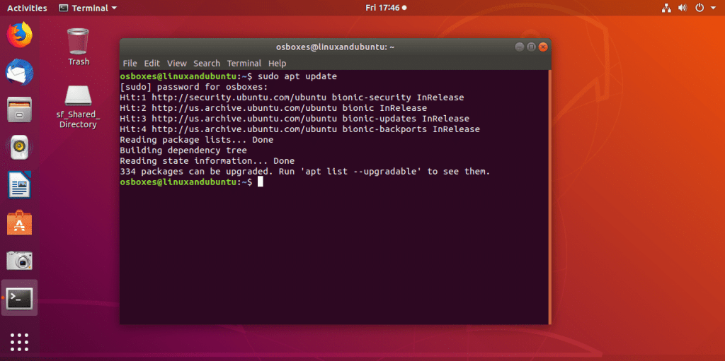 Update Ubuntu before upgrade
