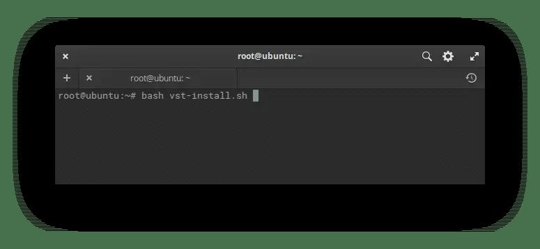 Run Vesta installation script
