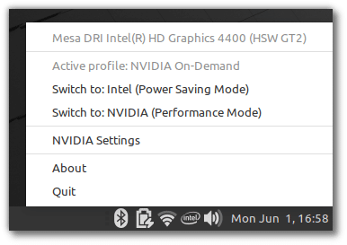 nvidia optimus support