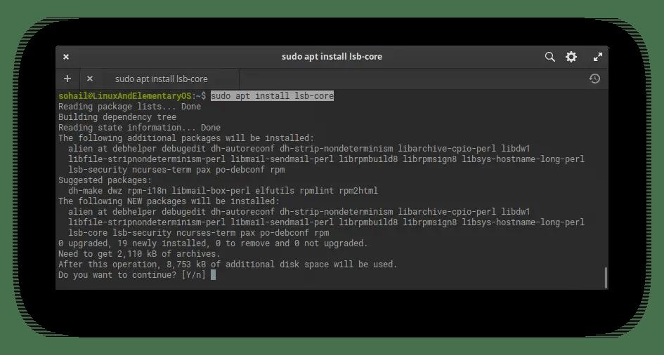 install lsb core