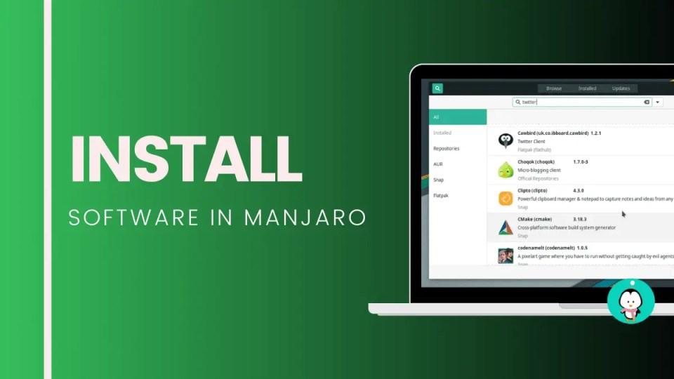 Install software in Manjaro