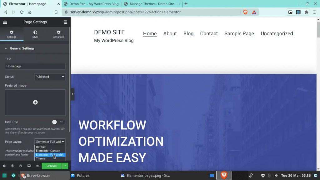 Website width