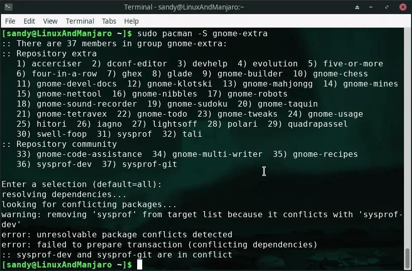 Manjaro install gnome desktop environment