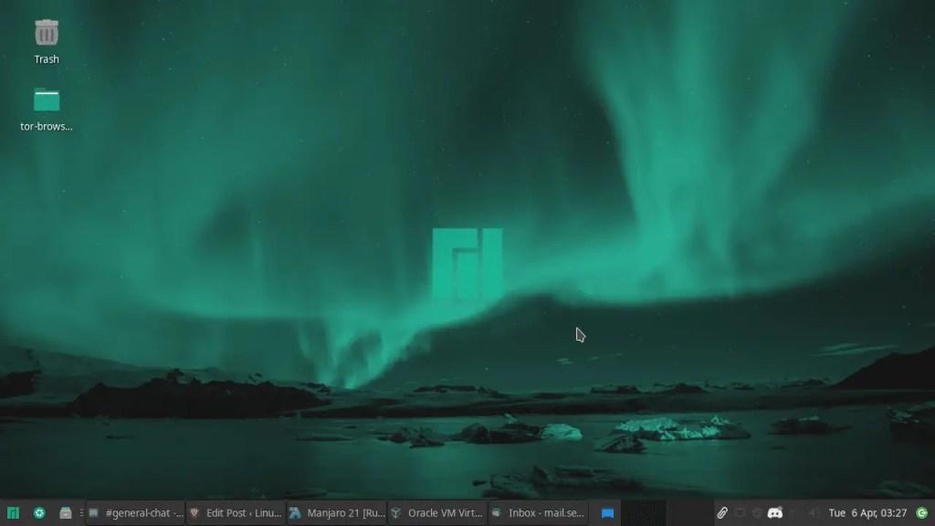 Manjaro xfce Desktop
