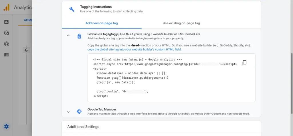 Google global site tag