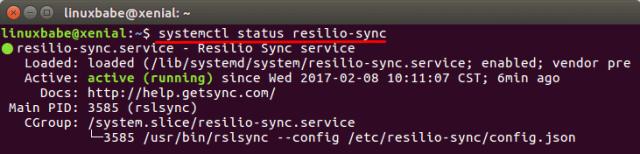 resilio sync ubuntu