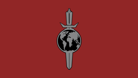 Terran Empire Logo on Red Background