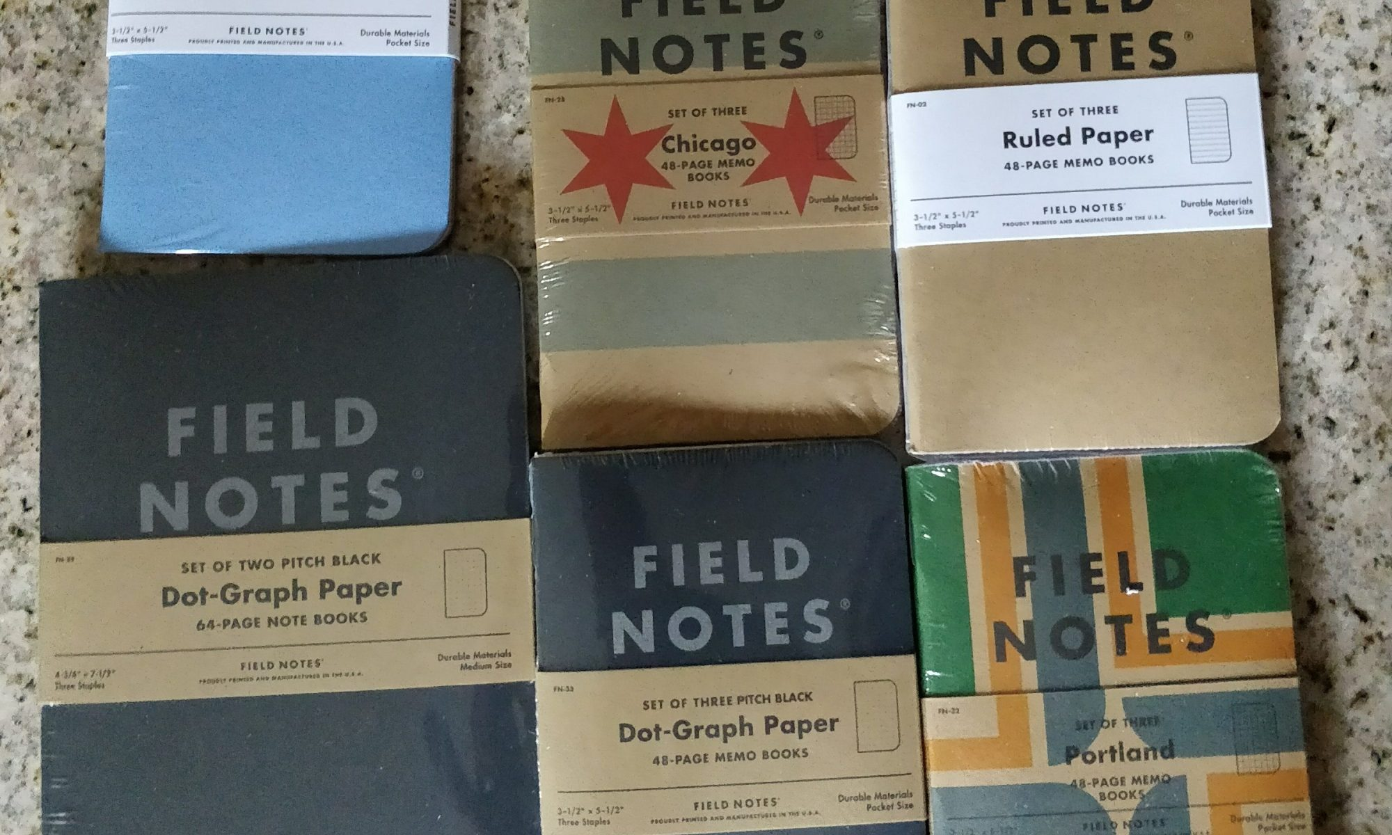 Field Notes brand pocket notebooks