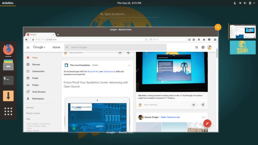Pop!_OS Activities Firefox