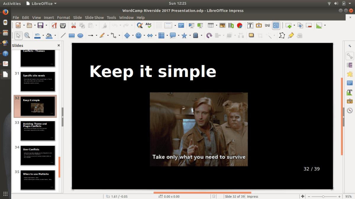 Slide presentation work continues