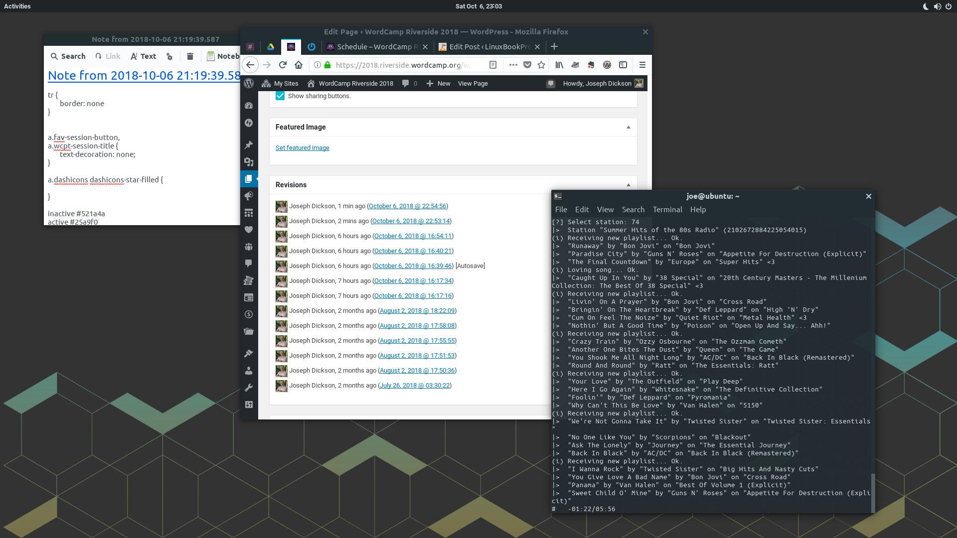 WordCamp webdev work in progress