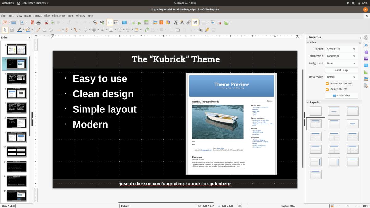 Screenshot from LIbre Office Impress